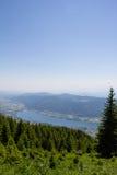 Vista al lago Ossiach de Gerlitzen Fotos de archivo
