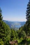 Vista al lago Ossiach de Gerlitzen Fotografía de archivo