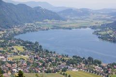 Vista al lago Ossiach del Mt Gerlitzen Foto de archivo libre de regalías