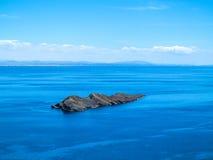 Vista al lago Titicaca ad Isla del Sol Fotografia Stock Libera da Diritti