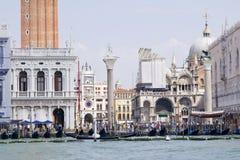 Vista al lugar de San Marco del vaporetto Fotografía de archivo