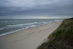 Vista al mar Báltico del escupitajo curonian Imagen de archivo libre de regalías
