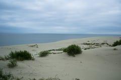 Vista al mar Báltico del escupitajo curonian Imagen de archivo