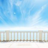 Vista al mar de un balcón Fotografía de archivo