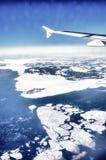Vista al mar del aeroplano Fotografía de archivo
