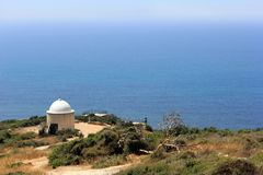 Vista al Mar Mediterraneo Fotografia Stock Libera da Diritti