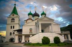 Vista al monastero ortodosso di ascensione di Pechersky, Nižnij Novgorod, Russia immagini stock