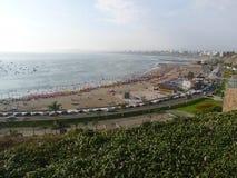 Vista al Nord della baia di Lima da Chorrillos Fotografie Stock