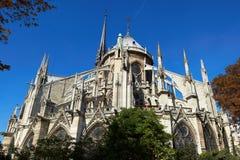 Vista al Notre Dame de Paris Fotografia Stock