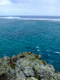 Vista al Océano Índico claro del La Morne Fotografía de archivo libre de regalías