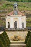 Vista al pabellón en el castillo de Wackerbarth en Radebeul, Alemania fotografía de archivo libre de regalías