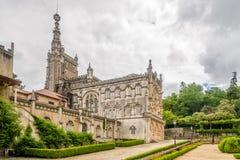 Vista al palazzo di Bucaco nel Portogallo Fotografie Stock Libere da Diritti