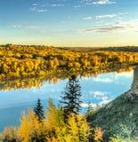 Vista al parco forte di Edmonton, caduta 2015 Immagine Stock