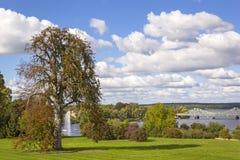 Vista al puente de Glienicke, Potsdam, Alemania fotos de archivo libres de regalías