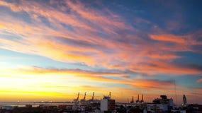 Vista-Al puerto Stockfoto