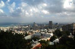 Vista al puerto de Haifa, Israel Fotografía de archivo libre de regalías