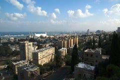 Vista al puerto de Haifa, Israel Fotografía de archivo