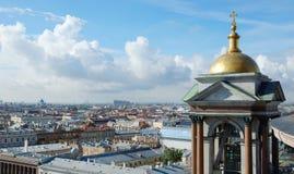 Vista al St Petersburg desde arriba de la catedral de Isaac del santo Fotografía de archivo libre de regalías