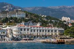 Vista al terraplén de Yalta Fotos de archivo
