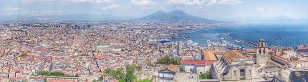 Vista al vulcano di Vesuvio Fotografia Stock Libera da Diritti