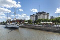 Vista all'aperto in Puerto Madero, Buenos Aires immagini stock