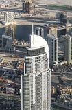 Vista all'hotel del centro della Doubai di indirizzo Vista superiore Fotografia Stock Libera da Diritti