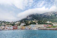 Vista all'isola di Capri Immagini Stock