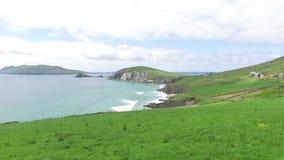 Vista all'oceano al modo atlantico selvaggio in Irlanda 78 stock footage