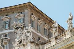 Vista all'Office di papa, la basilica di St Peter fotografia stock libera da diritti