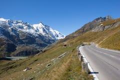 Vista all'più alta montagna di Grossglockner in Austria 3 798m Immagini Stock