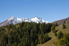Vista all'più alta montagna di Grossglockner in Austria 3 798m Fotografia Stock