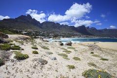 Vista alla baia degli accampamenti, Sudafrica Fotografia Stock