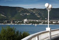 Vista alla baia del mare nel Mar Nero Fotografie Stock Libere da Diritti