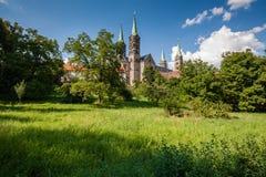 Vista alla cattedrale del famouse a Bamberga Immagine Stock