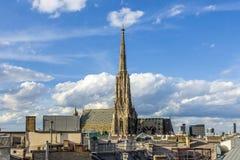 Vista alla cattedrale di St Stephen a Vienna Fotografia Stock Libera da Diritti