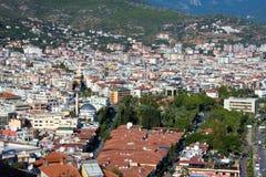 Vista alla città di Alanya Fotografia Stock