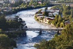 Vista alla città di Kutaisi Fotografie Stock