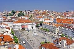 Vista alla città di Lisbona Immagini Stock