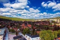 Vista alla città di Miskolc fotografia stock libera da diritti