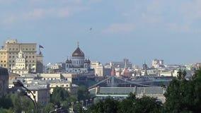 Vista alla città di Mosca dalle colline del passero Mosca, Russia La fucilazione dei 23 può 2017 Fucilazione in tempo reale video d archivio