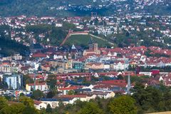 Vista alla città Esslingen Fotografie Stock Libere da Diritti