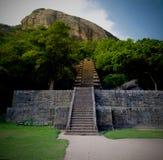 Vista alla cittadella di Yapahuwa, vecchia capitale della Sri Lanka fotografie stock libere da diritti