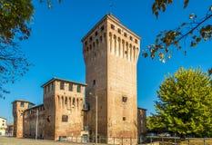 Vista alla fortezza di Rocco del Cento in Italia fotografia stock libera da diritti