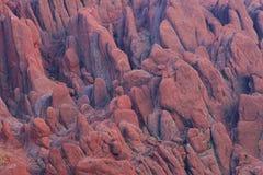 Vista alla gola nelle montagne di atlante, Marocco di Todra Fotografie Stock Libere da Diritti