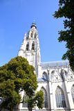 Vista alla grande cattedrale della nostra signora a Breda fotografie stock libere da diritti