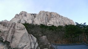 Vista alla grande roccia Ulsanbawi Fotografie Stock