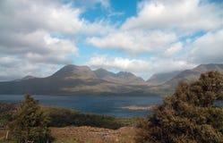 Vista alla montagna scozzese Fotografia Stock