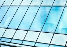 Vista alla priorità bassa dell'azzurro d'acciaio di costruzione di vetro Fotografia Stock Libera da Diritti