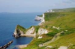 Vista alla riga del litorale in Inghilterra Fotografie Stock