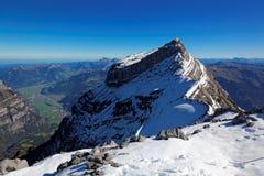 Vista alla sommità di Vrenelisgärtli (poco giardino di Verena), alpi svizzere, Svizzera, Europa Immagini Stock